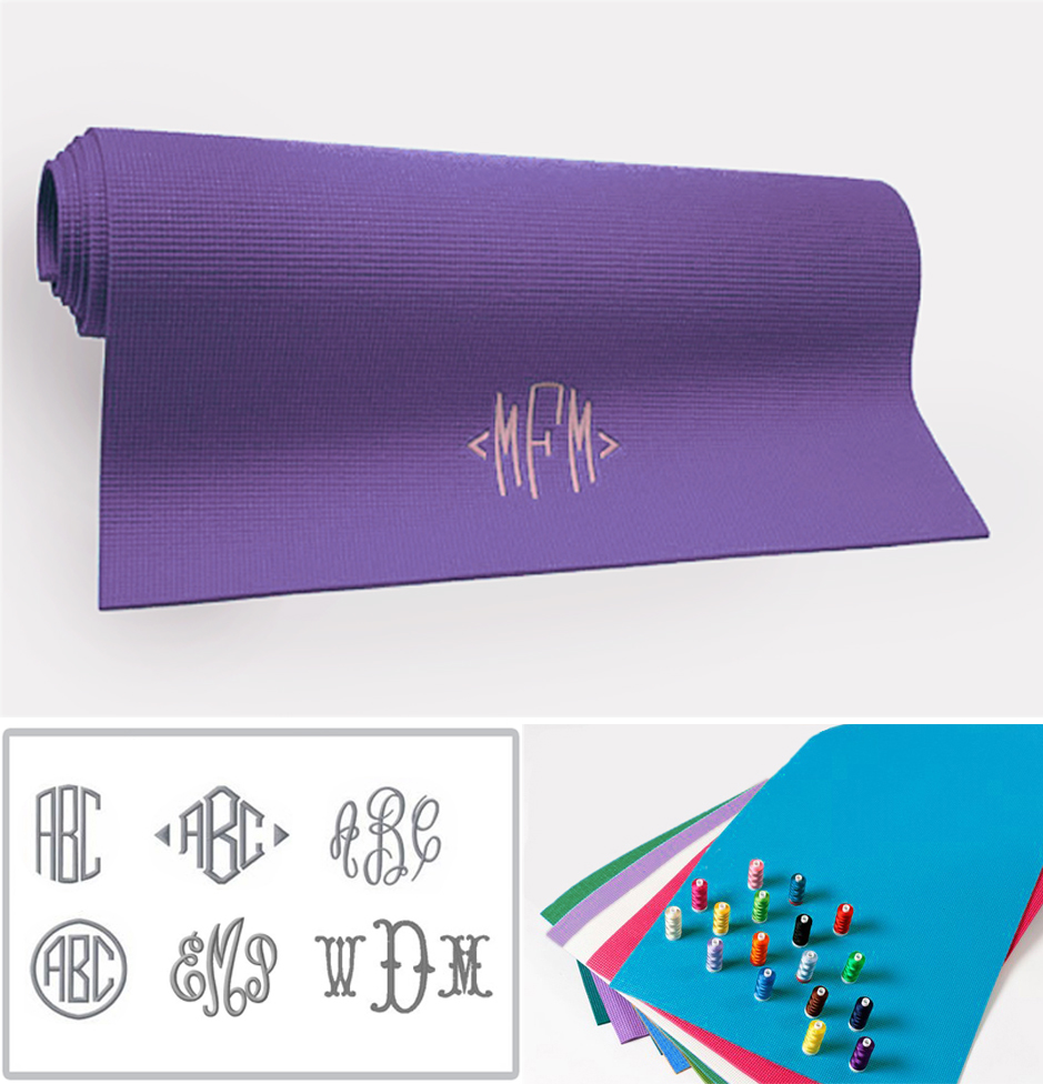 name personalized monogrammed with custom gcxd mat mats yoga il etsy market